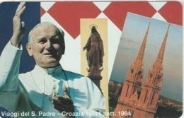 SCHEDA TELEFONICA NUOVA VATICANO SCV22 VIAGGI PAPA CROAZIA - Vaticaanstad