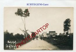 ICHTEGEM-Gare-CARTE PHOTO Allemande-Guerre 14-18-1WK-BELGIEN-Flandern- - Ichtegem