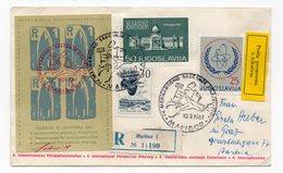 YUGOSLAVIA,SLOVENIA 10.09.1961 COMMEMORATIVE COVER 30 YEARS OF THE ROCKET SCHMIEDL-R1,SPECIAL CANCELLATION, PTUJ TO GRAZ - 1945-1992 Socialist Federal Republic Of Yugoslavia