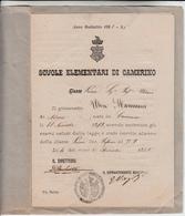 Scuola Elementare Di Camerino, Ammissione Alla Classe Prima, Anno Scolastico 1885 - 1886 - Diploma & School Reports