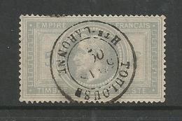 1868 – N°33 - Violet-gris - 5 Fr - Oblitéré -SUPERBE - Semble Impeccable - Pas D'aminci - Réparé ??? - 1863-1870 Napoleon III With Laurels
