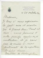 Olga Karnovitch Paley (1865-1929) Seconde épouse Du Grand-duc Paul Alexandrovitch De Russie LAS 1910 Hohenfelsen RUSSIA - Autographes