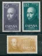 España 1955 Edifil 1166/68 ** - IV Centenario De La Muerte De San Ignacio De Loyola. Serie Completa. - 1951-60 Nuevos & Fijasellos