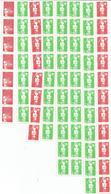 France - Lot De Timbres Neufs Issus De Roulettes - Briefmarken