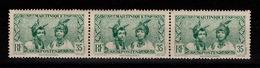 Martinique - YV 141A N** En Bande De 3 - Unused Stamps