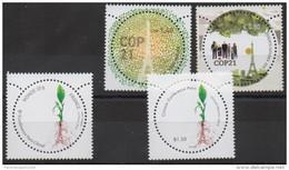 France - ONU UN 2015 COP 21 COP21 Climat Climate Joint Issue Emission Commune 4 Stamps / Timbres - France