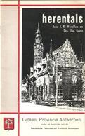 Boekje Herentals Door J.R. Verellen En Drs. Jan Goris Gidsen Provincie Antwerpen - Herentals