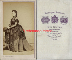 CDV Mode Second Empire-femme Haute Société-photo Paul Coutem De La Maison De L'empereur Napoléon III-Vichy - Photos