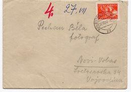 1947 YUGOSLAVIA, SLOVENIA, TPO 72 BOHINJSKA BISTRICA- LJUBLJANA TO NOVI VRBAS, SERBIA - 1945-1992 Socialist Federal Republic Of Yugoslavia
