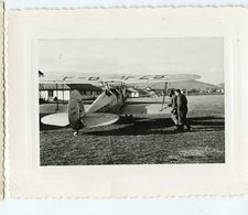 Avion Challes Les Eaux Terrain Aviation Biplan 50s - Personas Anónimos