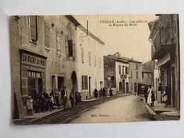 C. P. A. : 11 THEZAN (Aude) : Les Cafés Et La Ruche Du Midi, Animé, Timbre - Francia