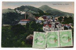 1921 CZECHOSLOVAKIA, LAZNE ROZNOV TO SARAJEVO, YUGOSLAVIA, POSTAGE DUE IN SARAJEVO - Czech Republic