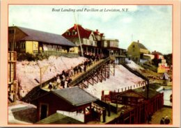 New York Lewiston Boat Landing And Pavilion Circa 1910 - Other
