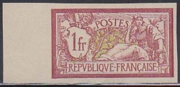 France (1900) 1Fr Type Merson - Imperforate - Mint, Never-hinged. Yvert No 121, Scott No 125.Expert Mark On Reverse. - 1900-27 Merson