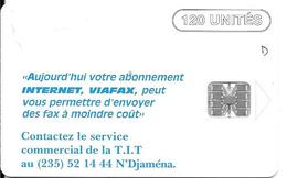 CARTE-PUCE-TCHAD-120U-SC7-1998 -Schlum-INTERNET PUBLICITE-TBE-RARE - Chad