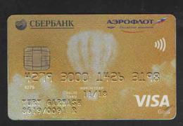 RUSSIA VISA GOLD CARD SBERBANK AEROFLOT - Geldkarten (Ablauf Min. 10 Jahre)