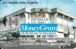 CARTE--PUCE-SC7-02/99-GHANA-SCHLUMBERGER-25U-BANK MONEY GAM-UTILISE-TBE -RARE - - Ghana