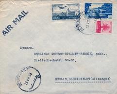 1953 , LIBANO / LIBAN , SOBRE COMERCIAL CIRCULADO , BEYROUTH - BERLIN , POR AVIÓN, LLEGADA AL DORSO - Líbano
