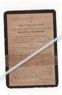 JOANNES FRANCISCUS SIGENITZ De SIGENBOURG ° ST-NICOLAAS1823 + 1896 / ALBERTINA MERCKX - Images Religieuses