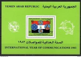 Yemen - Bloc Feuillet - 1983 - Yvert : ??? ** - Année Internationale Des Communications - Yemen
