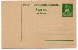 1947 YUGOSLAVIA, TITO, POSTAL STATIONERY, NOT USED - Postal Stationery