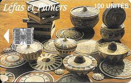 CARTE-PUCE-GUINEE-100U-SC7-LEFAS Et PANIERS-UTILISE-TBE - Guinee