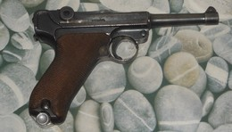 """Pistolet Luger P08 De 1913 WWI Fabricant Erfurt - Neutralisé Saint-Etienne """"an"""" - Armes Neutralisées"""