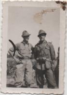 Fotografia Cm. 4,6 X 6,7 Con Due Militari - Guerra, Militari