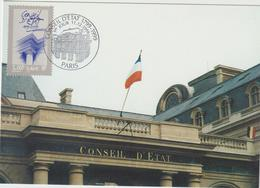 Carte Maximum FRANCE N° Yvert 3293 (CONSEIL D'ETAT) Obl Sp  Ill  1er Jour (Ed FDC) - 1990-99