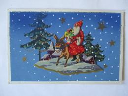 LE PERE NOËL SUR SON RÊNE PART DISTRIBUER LES CADEAUX - Santa Claus