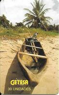 CARTE-PUCE-GUINEE-EQUATORIALE-30U.T-SC7-Schlum-PIROGUE-UTILISE-TBE - Equatorial Guinea
