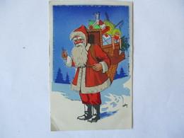LE PERE NOËL ET SA GRANDE HOTTE REMPLIE DE CADEAUX ILLUSTRATEUR ROBY - Santa Claus