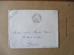 CACHET HEXAGONAL BLIDA-CHREA 16-8 1956 ALGER F.M. PAR AVION - Poststempel (Briefe)
