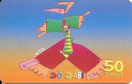CARTE-PUCE-CAP-VERT-50U.T-SC7-Schlum-2001-DANSEUR-UTILISE-TBE - Kaapverdische Eilanden