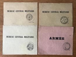 France - WWI - Lot De 4 Etiquettes De Liasses De Lettres - SP 79, 31, 24 Et 30 - (B1320) - Marcophilie (Lettres)