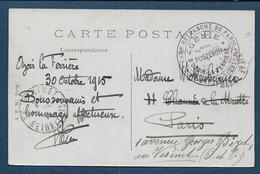 Seine Et Marne  - Camp Retranché De Paris - Génie - Position D' OZOIR LA FERRIERE - Marcophilie (Lettres)