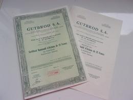 GUTBROD (certificat) Macon , Saone Et Loire - Actions & Titres