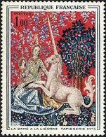 Y&T N°1425   «La Dame à La Licorne», Used - Usati