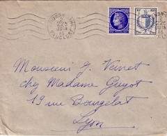 MAZELIN - BLASON METZ - VAUCLUSE - AVIGNON - 2-6-1946. - Marcophilie (Lettres)