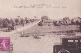 CPA / Hauteville Sur Mer (50) Vue D'ensemble  Des Chalets  Normandie Pittoresque  Ed Le Goubey Voitures  Rare - France