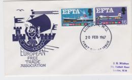 Great Britain FDC 1967 EFTA (G99-45) - Autres