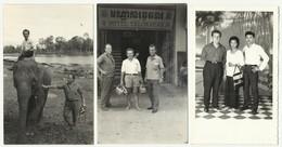 Cambodia - Elephant , Hotel Thlokvear ,3 Old Real Foto - Cambodia