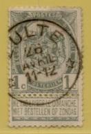 MW-3507    *  ZULTE *  Sterstempel    OCB 53 Coba +30 - 1893-1907 Wapenschild