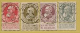 MW-3519    LOKEREN      OCB 74+75+77+78 - 1905 Breiter Bart