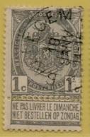 MW-3524    *  BAELEGEM   *    OCB 53   Sterstempel    COBA  10 - 1893-1907 Armoiries