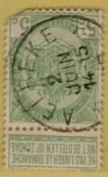 MW-3536    *  AELBEKE    *    OCB 56  Met Gebrek Sterstempel    COBA    +30 - 1893-1907 Wapenschild