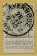 MW-3550     *  AVERBODE   *    OCB 81    Sterstempel    COBA    + 30 - 1893-1907 Wappen