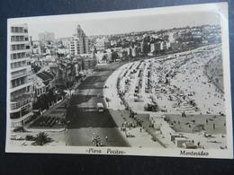 19940) URUGUAY MONTEVIDEO PLAYA POCITOS VIAGGIATA BOLLO ASPORTATO - Uruguay