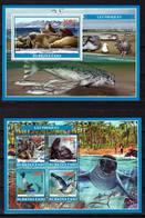 Burkina Faso, 2019. [bf1902] Marine Fauna, Seals (s\s+block) - Vie Marine