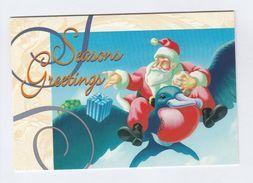 AUSTRALIA SPECIAL CHRISTMAS COVER Card Pmk CHRISTMAS HILLS Santa Stamps  1995 - 1990-99 Elizabeth II
